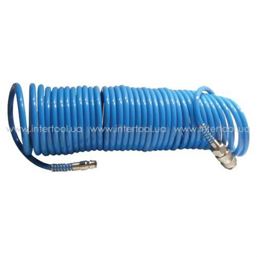 Шланг спиральный полиуретановый 5.5 * 8 мм 15м  PT-1708