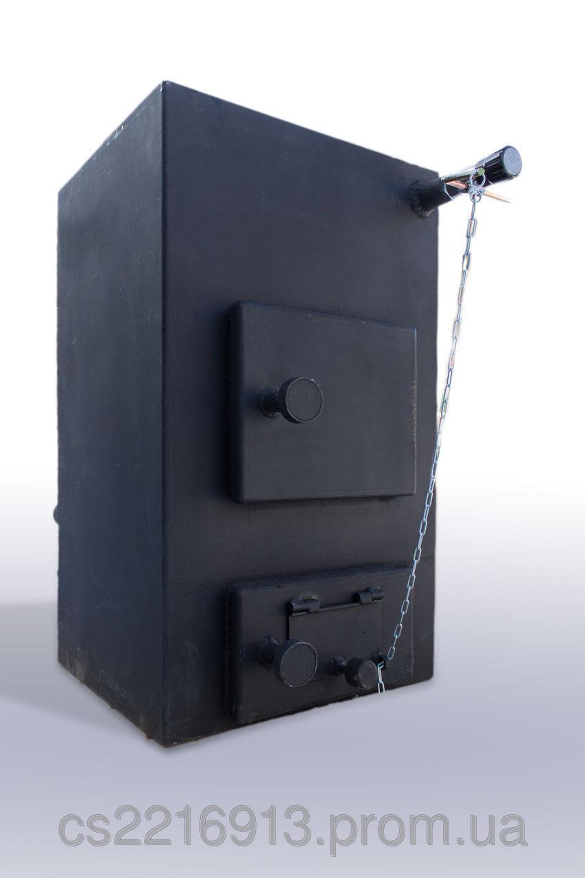 Котел твердотопливный Буржуй КП 12 кВт с плитой (одна комфорка)