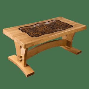 Стол резной деревянный