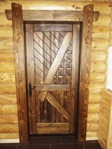 Деревянная дверь №3