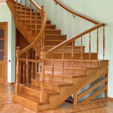 Лестница деревянная №2