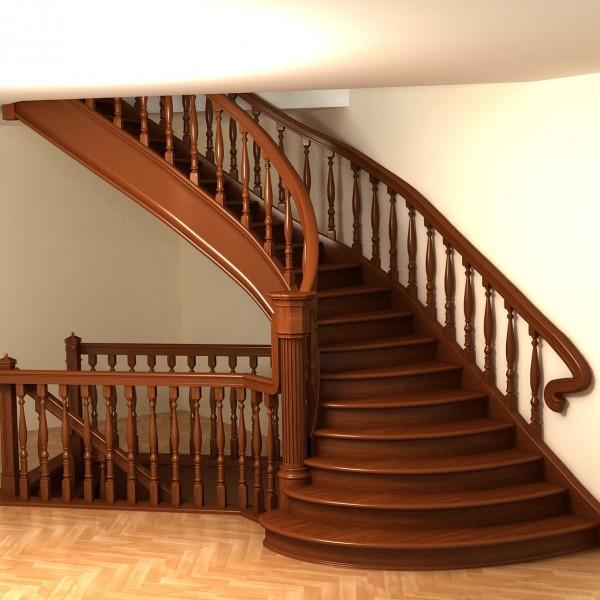 Лестница деревянная №1
