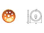 Круг алмазный сегментный шлифовальный (1 ряд)