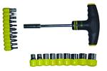 Набор SIGMA отвертка с Т-образной ручкой с насадками, 21 предмет