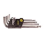 Ключи 6-гранные 9шт 1.5-10мм CrV с шарниром