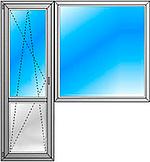 Балконный блок 5-ти этажка 2100*2100