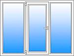 Балконная рама 2800*1500 (3 отделения)