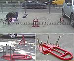 Установка парковочных барьеров, блокираторов