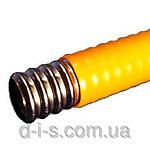 Труба гофрированная нержавеющая для газа с полиэтиленовым покрытием (желтая, белая, красная) диаметр 15  мм.