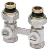 К-кт штанговых распред.для напольного отопл.DN25(1) с расходомерами, с 11-ю отводами